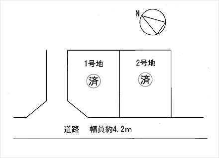 滋賀県草津市追分南3丁目 2区画(40.00坪) 区画図と販売価格