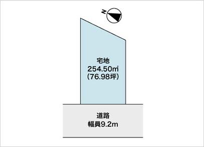 滋賀県草津市桜ケ丘1丁目(76.98坪) 区画図