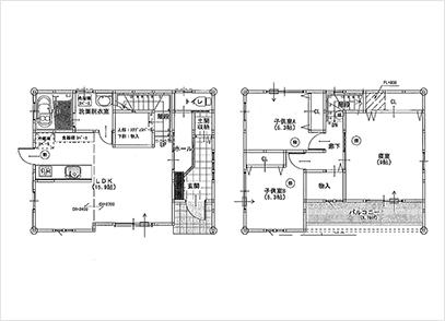 滋賀県草津市追分3丁目 モデルハウス(3LDK+中二階) 建物情報