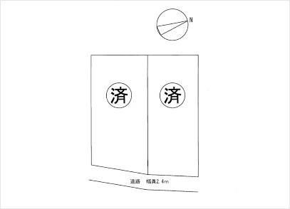 滋賀県大津市大江2丁目 2区画(50.00坪) 区画図と販売価格