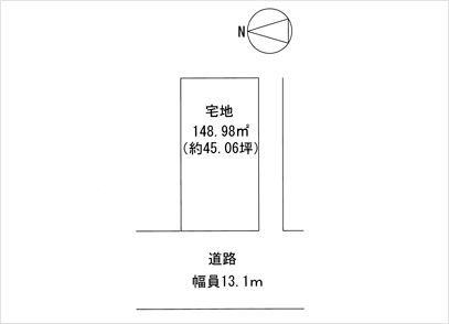 滋賀県大津市観音寺(45.06坪) 区画図