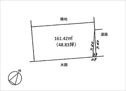 滋賀県栗東市中沢2丁目(約48.83坪) 区画図