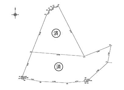 滋賀県大津市大将軍3丁目 2区画(27.0坪〜) 区画図