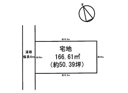 滋賀県草津市野村3丁目(50.39坪) 区画図