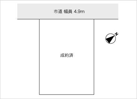 滋賀県栗東市十里(約41.02坪) 区画図