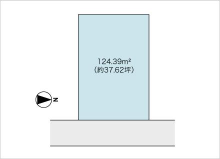 滋賀県大津市大門通(約37.62坪) 区画図