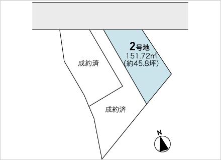 滋賀県大津市大江1丁目 3区画(約45.8坪〜) 区画図