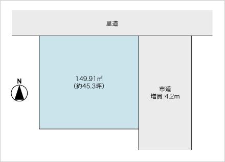 滋賀県大津市桜野町1丁目(約45.3坪) 区画図