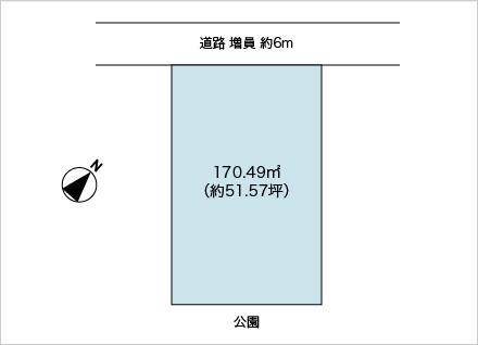 滋賀県近江八幡市安土町豊浦(約51.57坪) 区画図