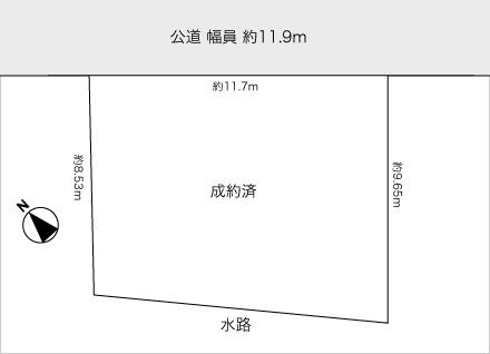 滋賀県大津市一里山1丁目(約32.08坪) 区画図