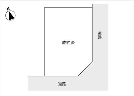 滋賀県大津市瀬田3丁目(約51.03坪) 区画図