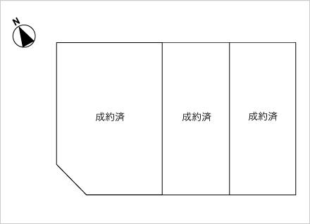 滋賀県大津市本堅田4丁目 3区画(約41.19坪〜) 区画図と販売価格