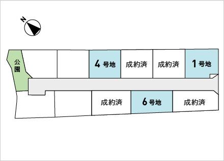 滋賀県守山市荒見町 7区画(72.75坪〜) 区画図と販売価格