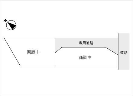 滋賀県野洲市行畑1丁目(約34.17坪〜) 区画図と販売価格