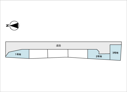 滋賀県大津市見世1丁目(約39.24坪〜) 区画図と販売価格