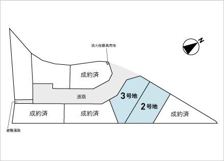 滋賀県野洲市栄 6区画(約47.64坪〜) 区画図と販売価格