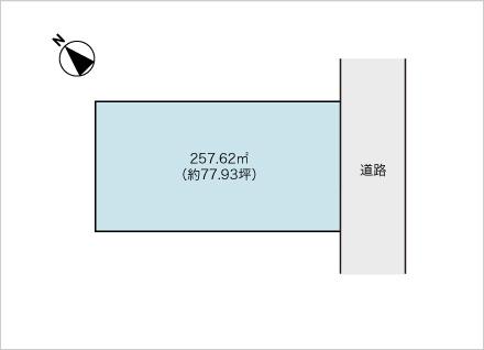 滋賀県守山市笠原町(約77.93坪) 区画図