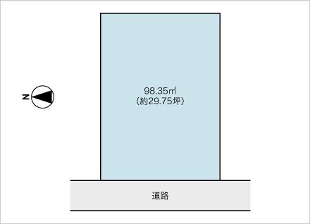 滋賀県大津市錦織3丁目(約29.75坪) 区画図