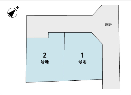 滋賀県守山市赤野井町 2区画(72.75坪〜) 区画図と販売価格