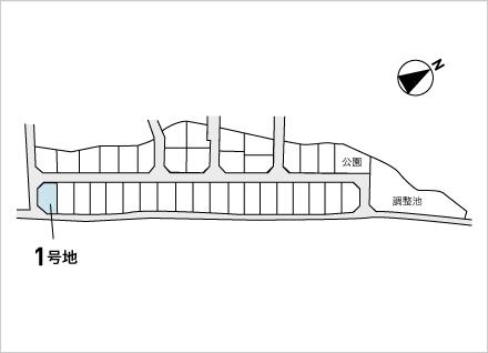 滋賀県野洲市西河原(65.24坪) 区画図