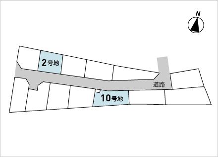 滋賀県大津市大江6丁目 2区画(約37.84坪〜) 区画図と販売価格