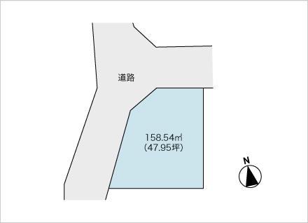 大津市赤尾町 1区画(約47.95坪) 区画図